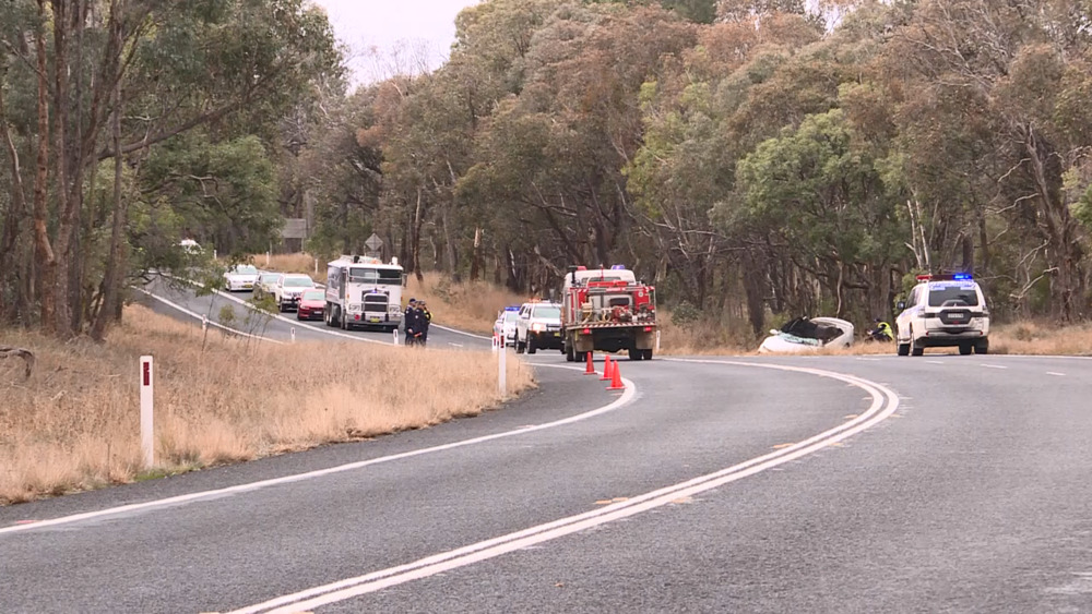 NBN News | TWO PEOPLE IN HOSPITAL AFTER SINGLE VEHICLE CRASH